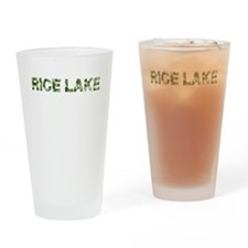 Rice Lake, Vintage Camo, Drinking Glass