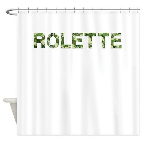 Rolette, Vintage Camo, Shower Curtain