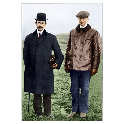 Wright brothers, US aviation pioneers Poster