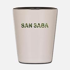 San Saba, Vintage Camo, Shot Glass