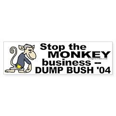 Stop the Monkey Business Bumper Bumper Sticker
