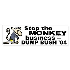 Stop the Monkey Business Bumper Bumper Sticker