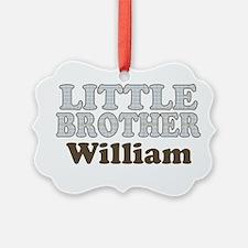 Custom name little brother Ornament