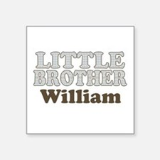 "Custom name little brother Square Sticker 3"" x 3"""