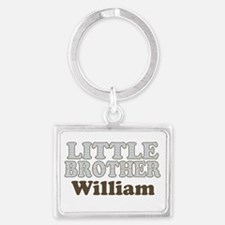 Custom name little brother Landscape Keychain
