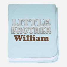 Custom name little brother baby blanket