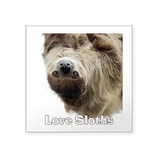 "Love Sloths Square Sticker 3"" x 3"""
