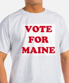 VOTE FOR MAINE Ash Grey T-Shirt
