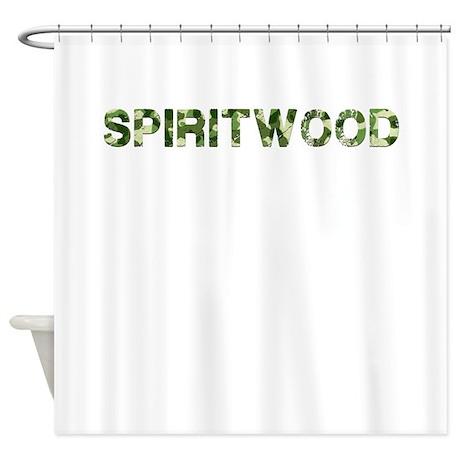 Spiritwood, Vintage Camo, Shower Curtain