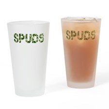 Spuds, Vintage Camo, Drinking Glass