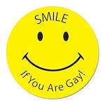 SIYA-Smile-If-You-are-Gay--.png Round Car Magnet