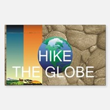 TOP Hiking Slogan Sticker (Rectangle)