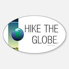 TOP Hiking Slogan Sticker (Oval)