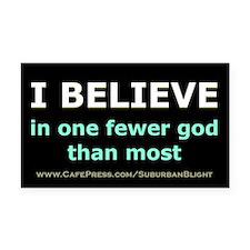 One Fewer God Rectangle Car Magnet