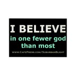 One Fewer God Rectangle Magnet (10 pack)