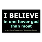 One Fewer God Sticker (Rectangle)