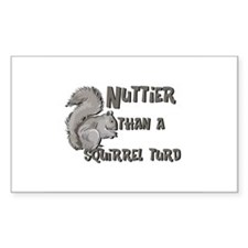 Nuttier Than a Squirrel Turd Rectangle Stickers