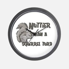 Nuttier Than a Squirrel Turd Wall Clock