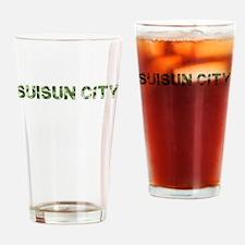 Suisun City, Vintage Camo, Drinking Glass