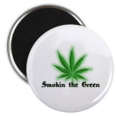 Smokin the Green (pot) Magnet