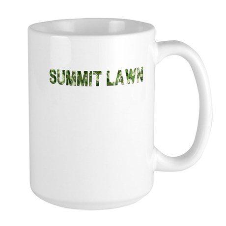 Summit Lawn, Vintage Camo, Large Mug