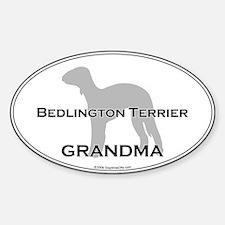 Bedlington Terrier GRANDMA Oval Decal