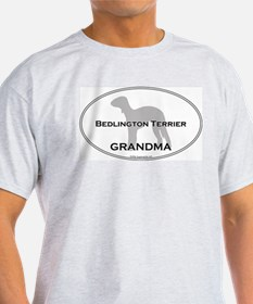 Bedlington Terrier GRANDMA Ash Grey T-Shirt