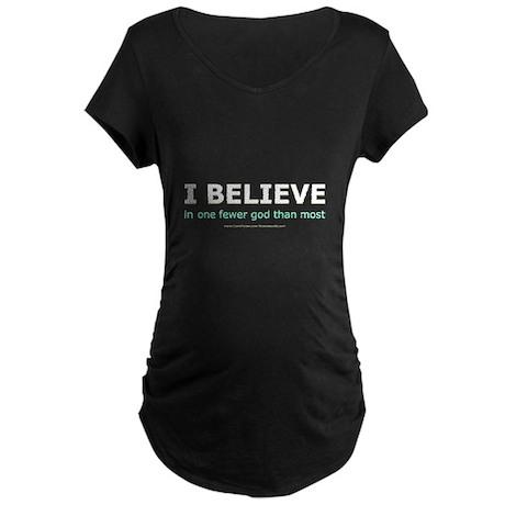 One Fewer God Maternity Dark T-Shirt