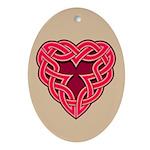 Chante Heartknot Oval Ornament