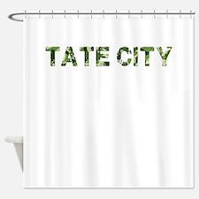 Tate City, Vintage Camo, Shower Curtain
