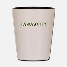 Tawas City, Vintage Camo, Shot Glass