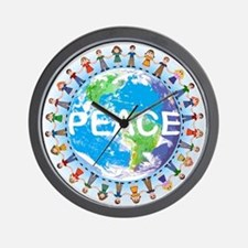 Earth Day Peace Clock - Children holding hands