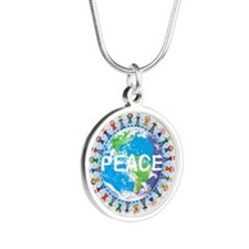 World Peace Silver Necklace Pendant