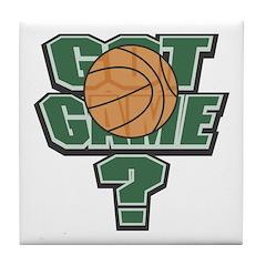 Got Game Basketball Tile Coaster