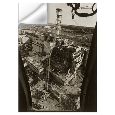 Aerial view of Chernobyl soon after the accident Wall Decal