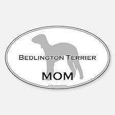 Bedlington Terrier MOM Oval Decal