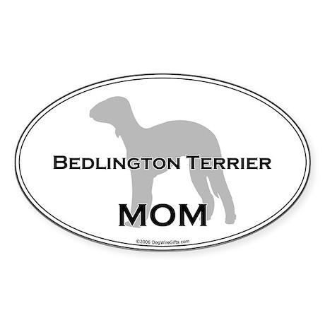 Bedlington Terrier MOM Oval Sticker