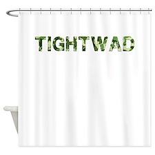 Tightwad, Vintage Camo, Shower Curtain