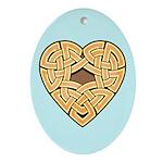 Chonoska Heartknot Oval Ornament