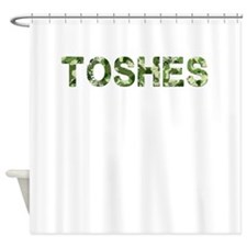 Toshes, Vintage Camo, Shower Curtain