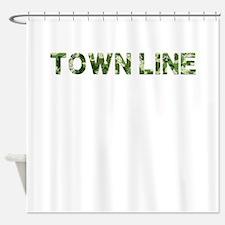 Town Line, Vintage Camo, Shower Curtain