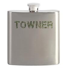 Towner, Vintage Camo, Flask