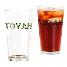 Toyah, Vintage Camo, Drinking Glass