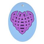 Hesta Heartknot Oval Ornament
