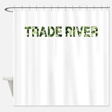Trade River, Vintage Camo, Shower Curtain