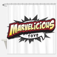 Marvelicious Logo Shower Curtain