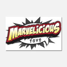 Marvelicious Logo Car Magnet 20 x 12