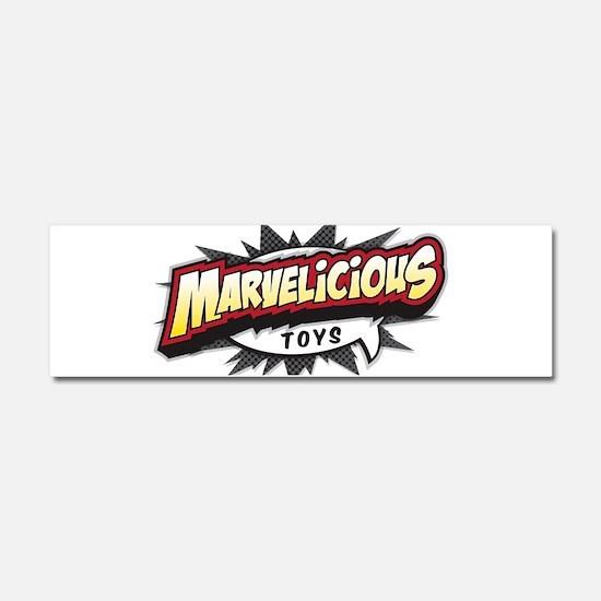 Marvelicious Logo Car Magnet 10 x 3