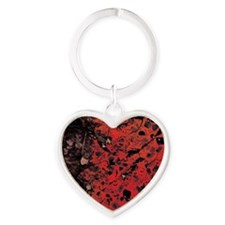 Red Granite Heart Keychain