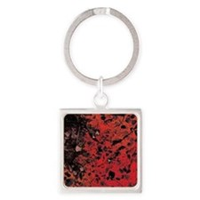 Red Granite Square Keychain